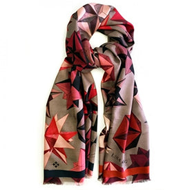 Red Polyhedra Scarf by Lisa King from Fortnum and Mason