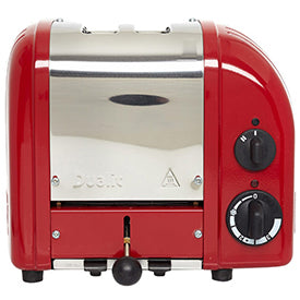 Dualit Red Polished Steel Toaster from Liberty