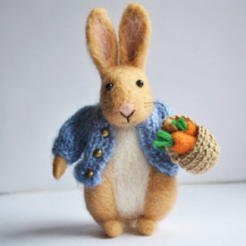 Needle Felted Peter Rabbit