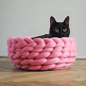 Ohhio Chunky Knit Cat Pet Bed