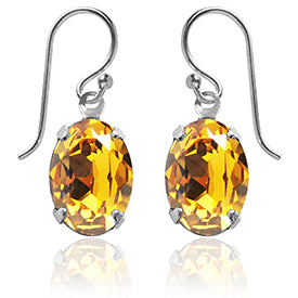 Swarovski Crystal Earrings in Sunflower by Amanda Jo Jewellery
