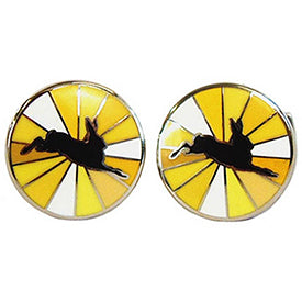 Yellow Hare Burst Cufflinks by Tyler and Tyler