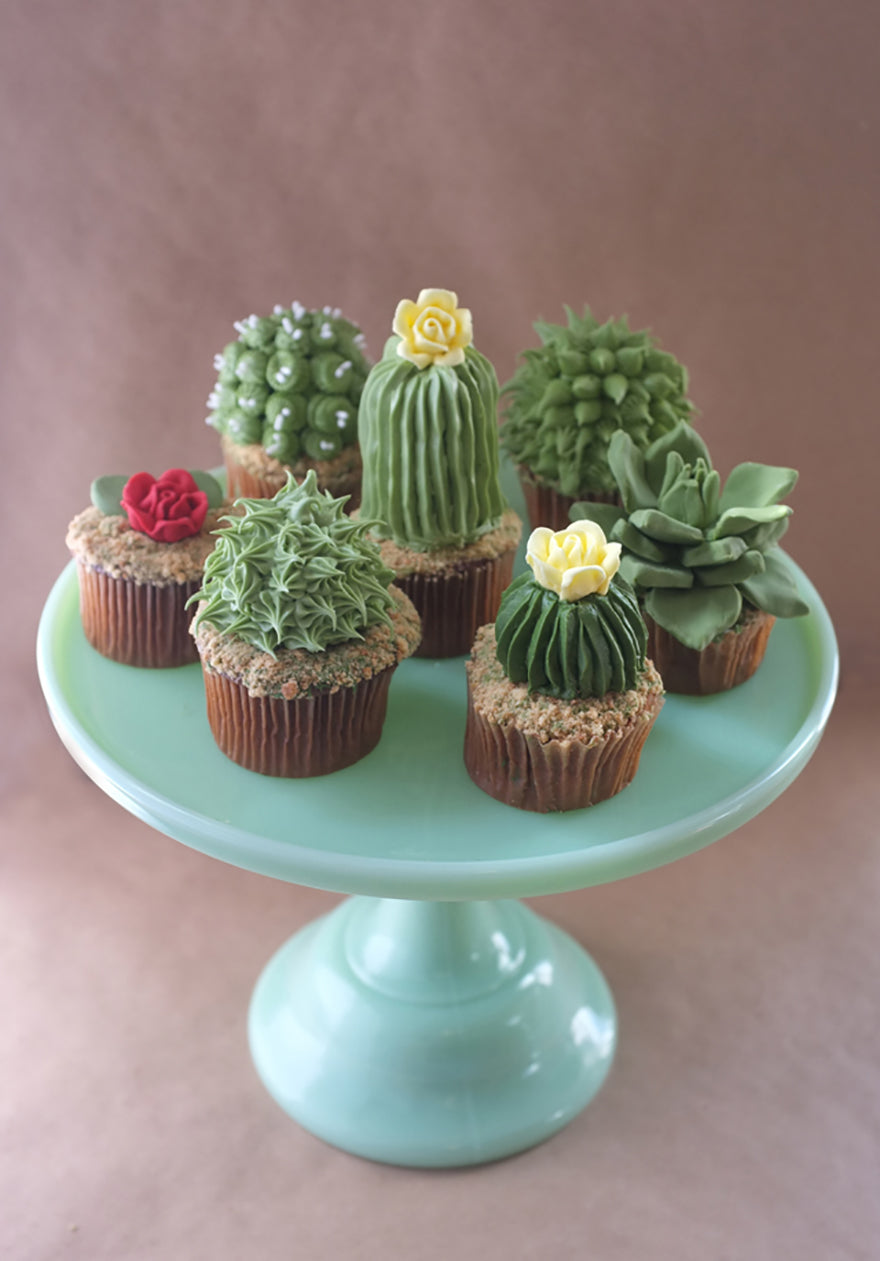 Cactus cupcakes by Alana Jones-Mann | The Magpie Files