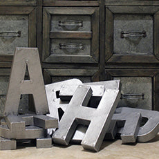 Industrial Decorative Letters