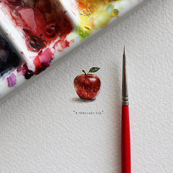 Apple 8 February 2014 Miniature by Lorraine Loots