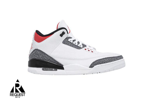 "Air Jordan 3 Retro ""SE Fire Red Denim 2020"""