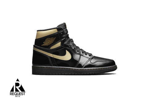"Air Jordan 1 Retro High ""Black Metallic Gold 2020"""