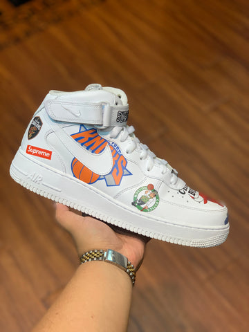 "Nike Air Force 1 Mid Supreme ""NBA White"""