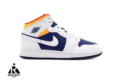 "Air Jordan 1 Retro Mid ""Laser Orange Deep Royal"""