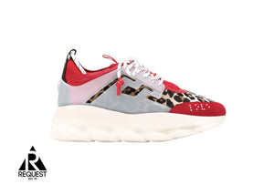 Versace Chain React Leopard Red