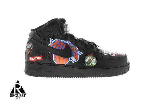 "Nike Air Force 1 Mid Supreme ""NBA Black"""