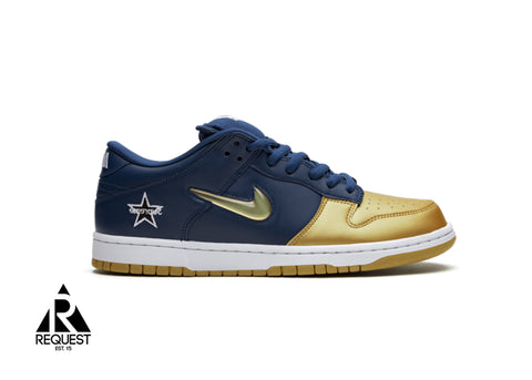 "Nike SB Dunk Low ""Supreme Jewel Swoosh Navy """