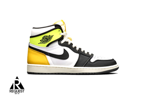 "Air Jordan 1 Retro ""White Black Volt University Gold"""