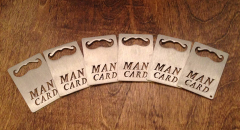 MAN CARD Wallet Sized Bottle Opener (6 PACK )