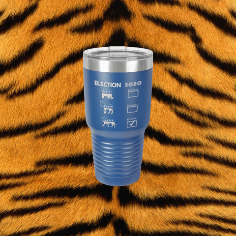 Joe Exotic Tiger King Laser Engraved 30 Oz Insulated Tumbler