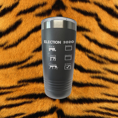 Joe Exotic Tiger King Laser Engraved 20 Oz Stainless Insulated Tumbler