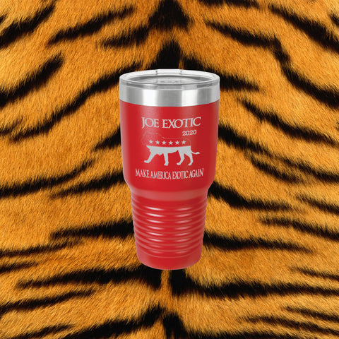 Tiger King Laser Engraved 30 Oz Insulated Tumbler