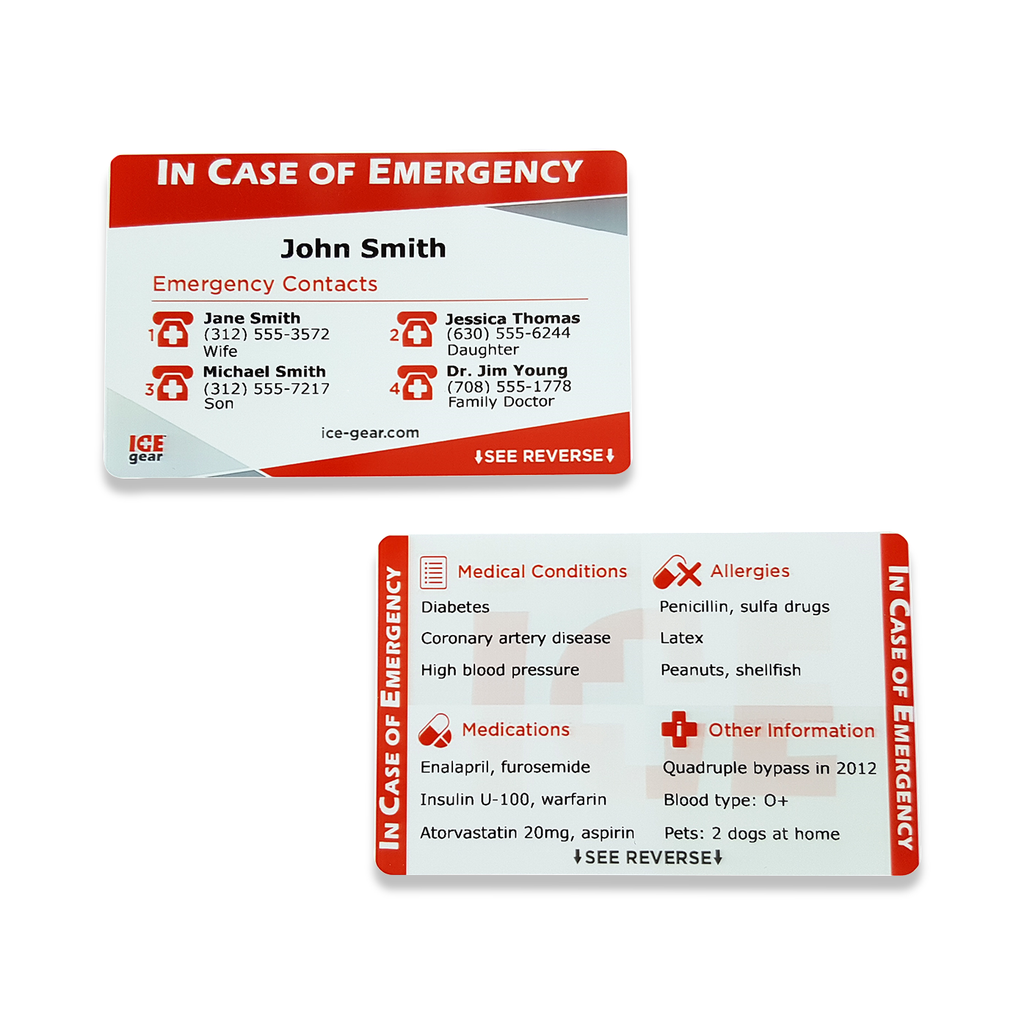 ICE (In Case of Emergency) Card