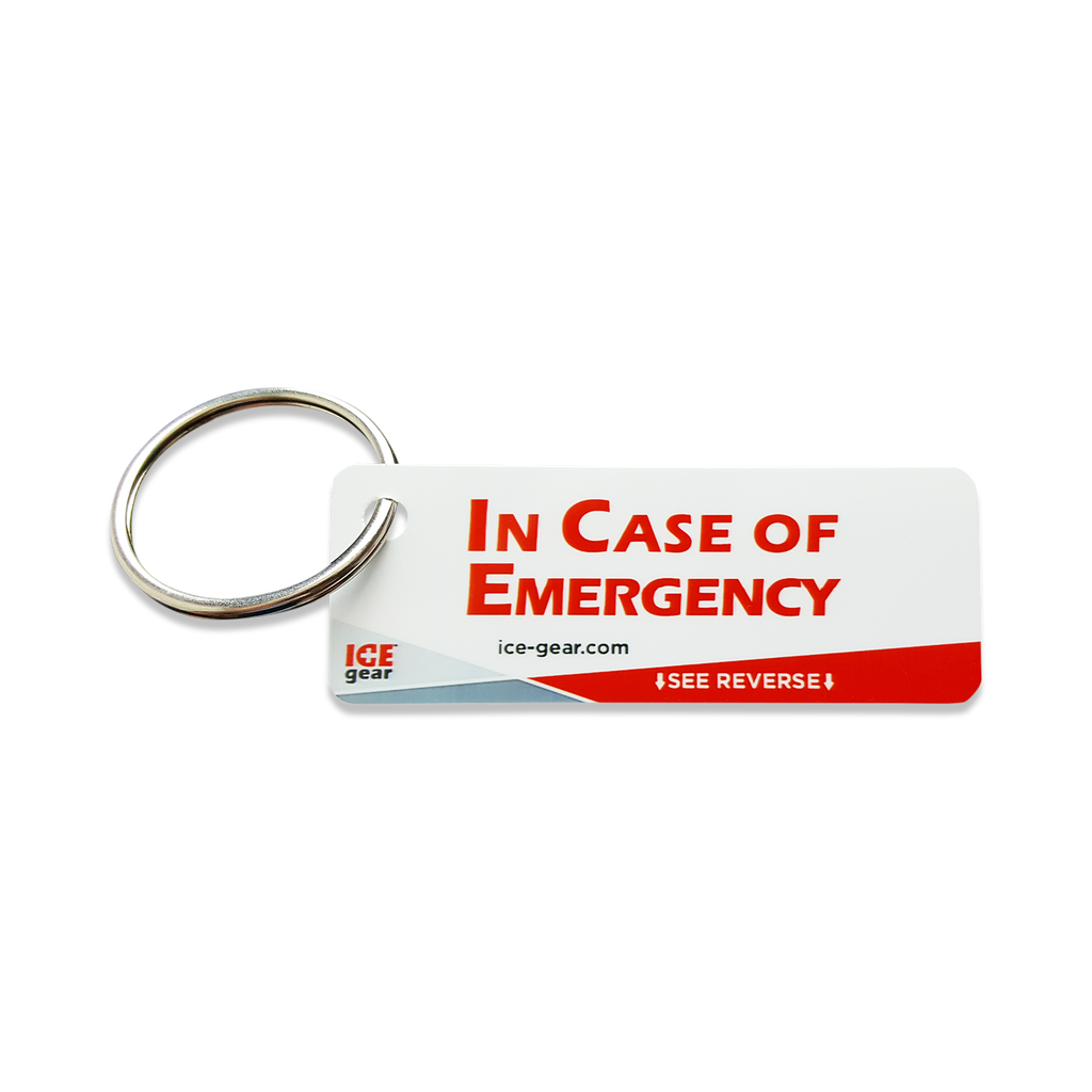 ICE (In Case of Emergency) Tags - Set of 4