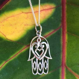 Hamsa Heart Necklace