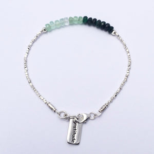 Be Joy Be Gratitude Bracelet - Emeralds