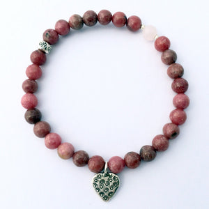 Triple Love Bracelet - Rose Quartz, Rhodonite