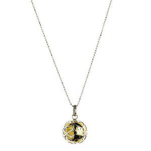 Harmony Ball Necklace - Brass & Silver