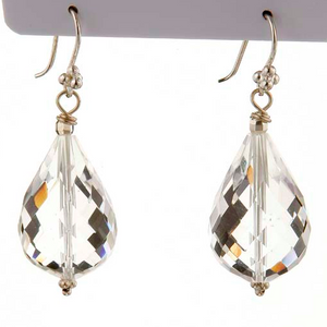 Clear Quartz Drop Earrings