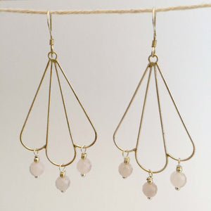 Epona Earrings - Rose Quartz