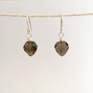 Tara Earrings - Smoky Quartz