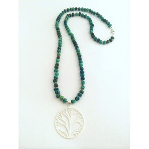 Healing Tree of Life Mala Necklace - Turquoise