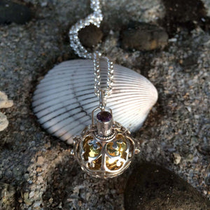 Harmony Ball Necklace - Brass & Silver with Basket