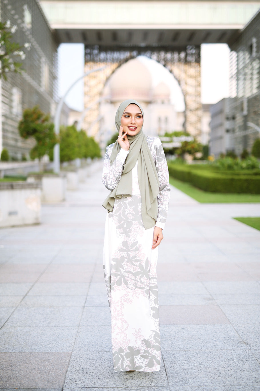 Autumn Jubah - Ash Grey