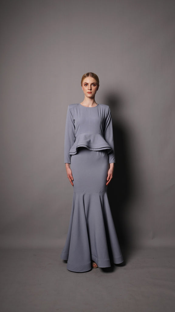AURORA PEPLUM- DUSTY GREY