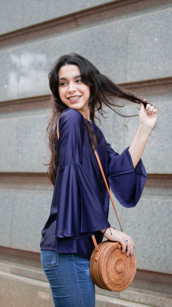 Florence Blouse - Navy Blue