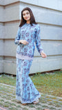 TULIP BATIK KURUNG LIGHT BLUE
