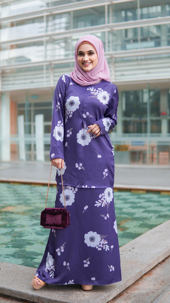 Daisy Kurung - Purple