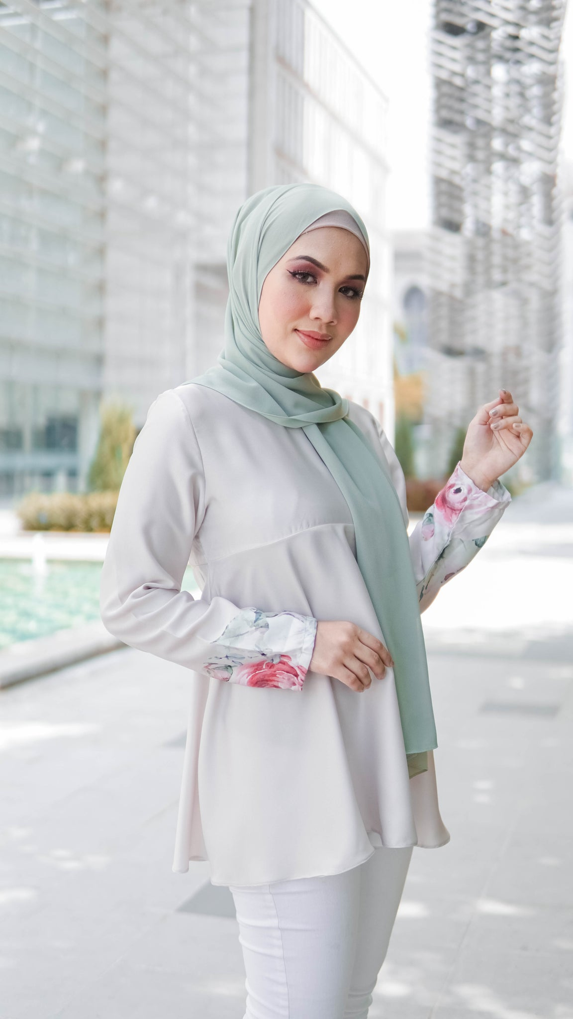 Sophie  Doll Blouse - Grey