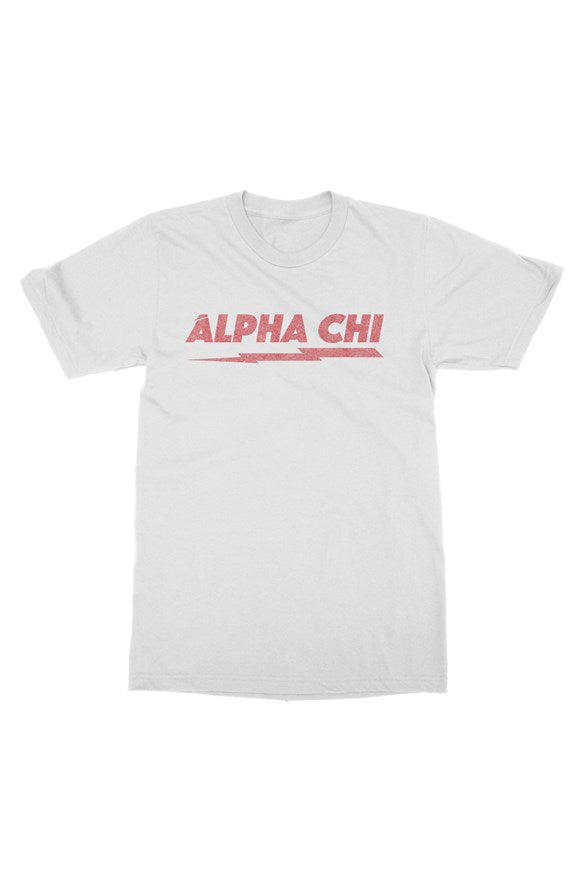 Alpha Chi Omega Distressed Bolt