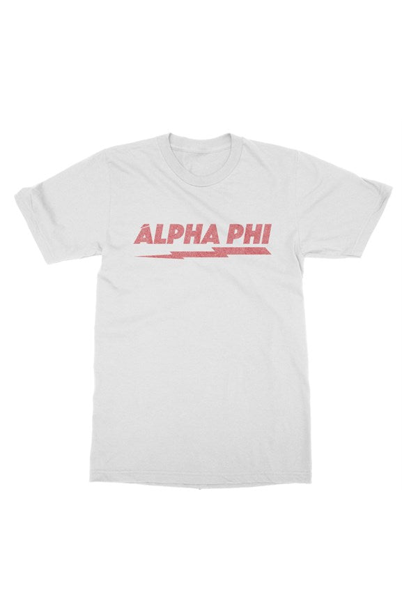 Alpha Phi Distressed Bolt