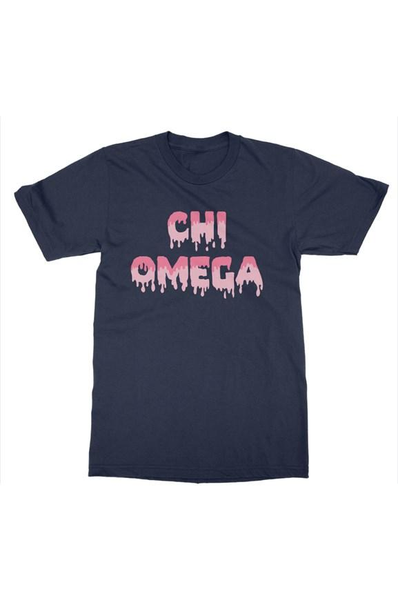 Chi Omega Paint Drip