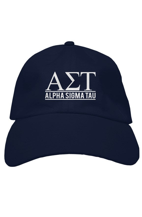 Alpha Sigma Tau the house hat