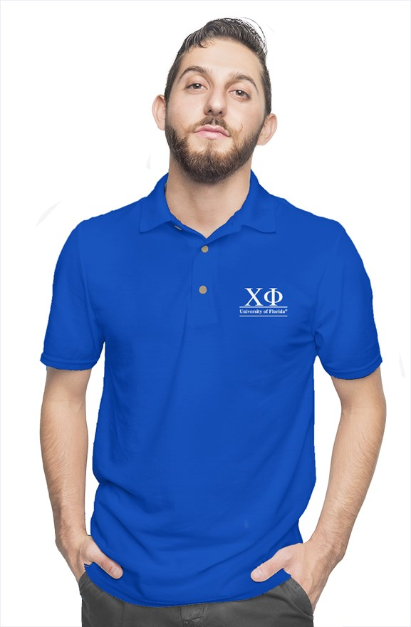 University of Florida - Chi Phi - Chapter House Blue Polo