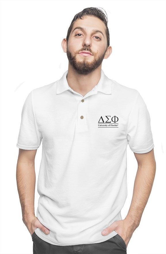 University of Florida - Delta Sigma Phi - Chapter House White Polo