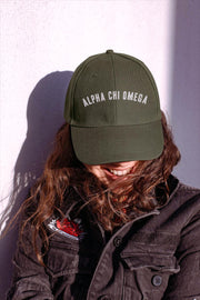 Alpha Chi Omega lifted hat