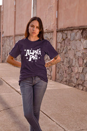 Alpha Phi Starred Up Unisex T-Shirt