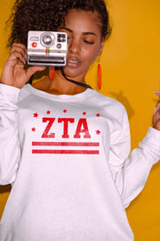 Zeta Tau Alpha Stars & Stripes Sweatshirt