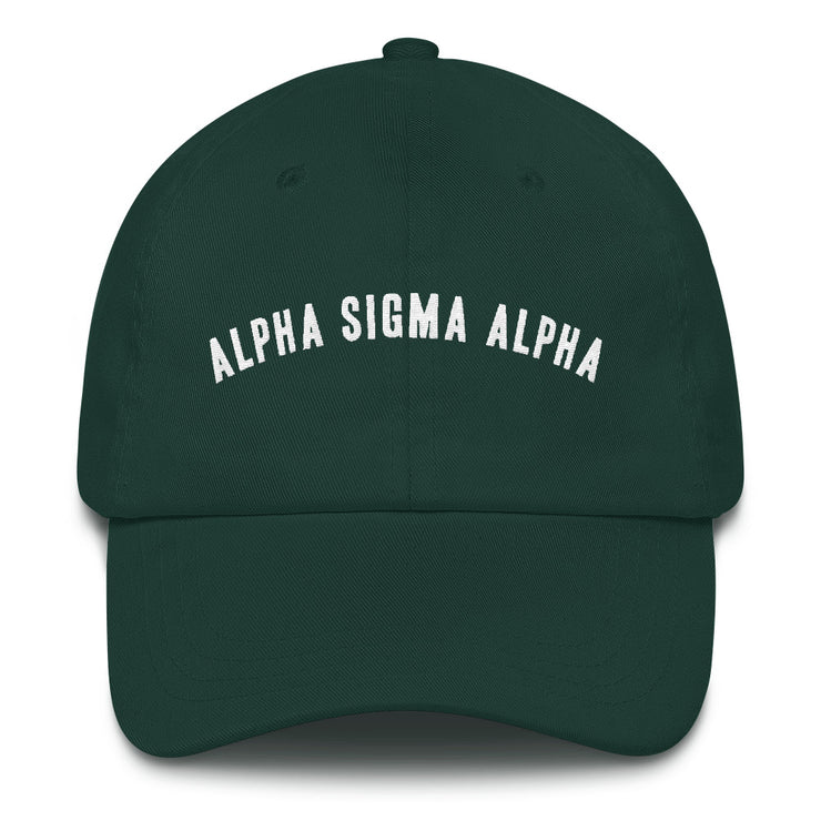 Alpha Sigma Alpha lifted hat