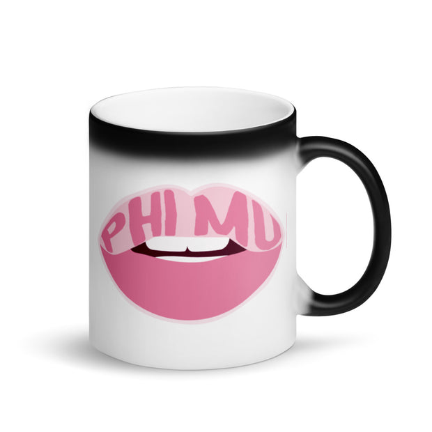Phi Mu Magic Coffee Mug - Pink Lips