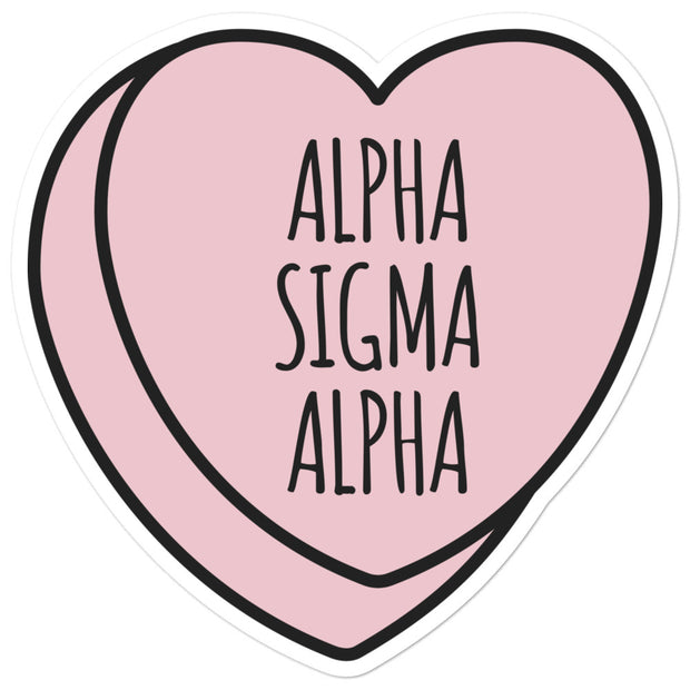Alpha Sigma Alpha Sweetheart - Sticker